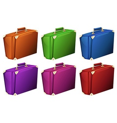 Colourful suitcases vector