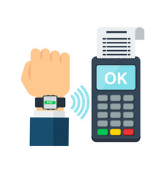 Contactless payment using rfid or nfc technology vector
