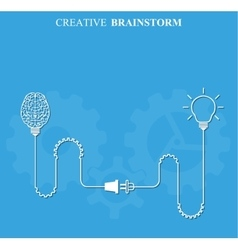 Creative brainstorm concept business vector image