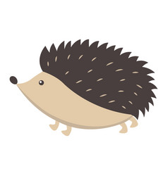 Cute hedgehog cartoon flat sticker or icon vector