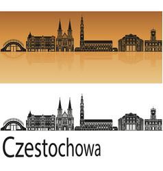 czestochowa skyline vector image