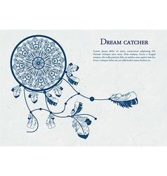 Decorative dreamcatcher vector image