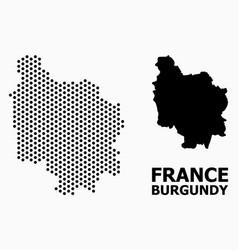 Dot mosaic map burgundy province vector
