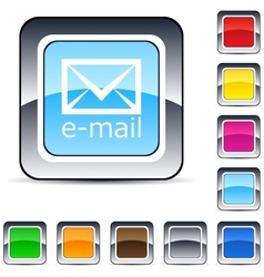E-mail square button vector image