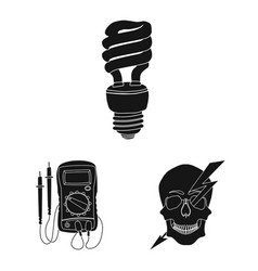 electricity and electric vector image