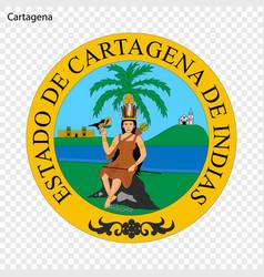 emblem city colombia vector image