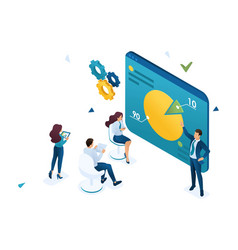 entrepreneur coach teaches employees compan vector image