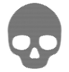 Fish skull mosaic vector
