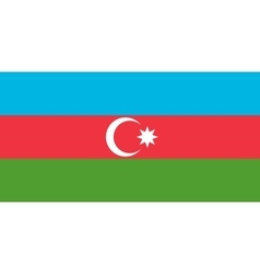 Flag of Azerbaijan in correct size and colors vector image