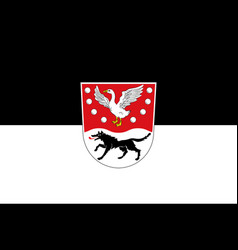 Flag of prignitz in brandenburg germany vector