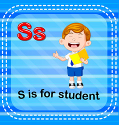 flashcard letter s is for student vector image