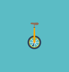 flat icon monocycle element vector image