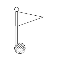 golf ball accessory with flag vector image