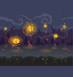 Gothic dark cartoon background for computer game vector