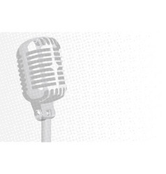 grey microphone background vector image