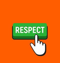 Hand mouse cursor clicks respect button vector