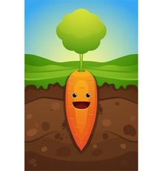 happy carrot vector image