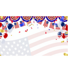 independence day 4th july happy independence day vector image