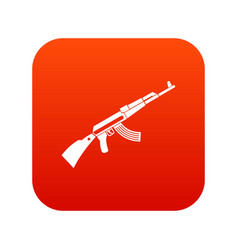 Kalashnikov machine icon digital red vector
