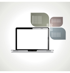 Laptop with black screen vector image