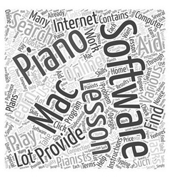 learn to play piano with a mac software Word Cloud vector image
