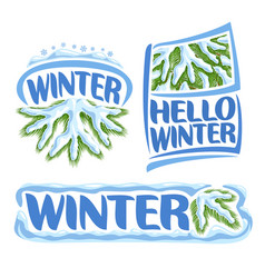Logo winter vector