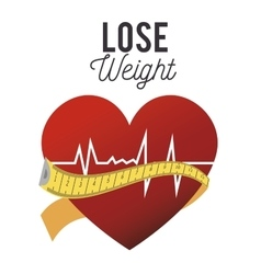 Lose weight design vector