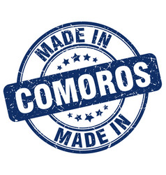 Made in comoros vector