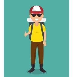 man tourist avatar character vector image