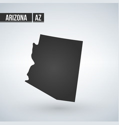 Map us state arizona on a white vector