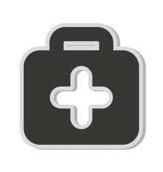 medical kit cross icon vector image