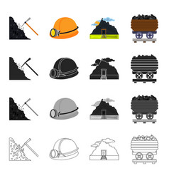 mining equipment tools and other web icon in vector image