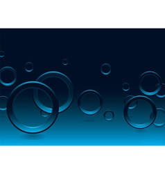modern bubble blue vector image