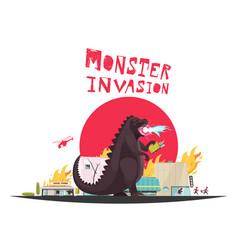 Modern monster dragon vector