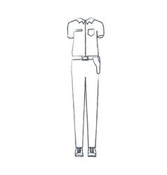 Monochrome blurred silhouette of uniform of vector