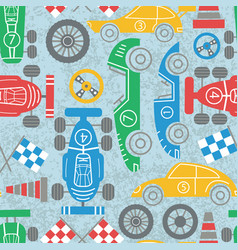 Racing sport seamless pattern vector