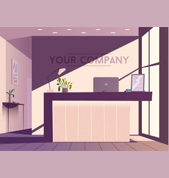 reception desk cartoon vector image