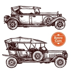 Retro Cars Set vector image
