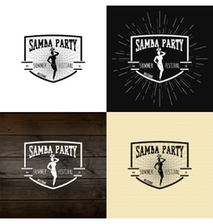 Samba party badges logos and labels for any use vector