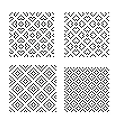 Seamless geometrical ornaments vector image