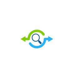 search share logo icon design vector image