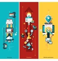 Seo Development Banners vector