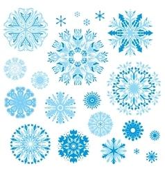 set elegant ornamental snowflakes vector image
