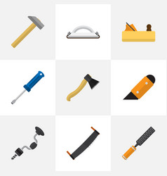 set of 9 editable instrument icons includes vector image