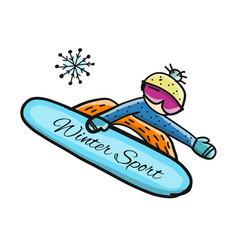 snowboarder sketch for your design vector image