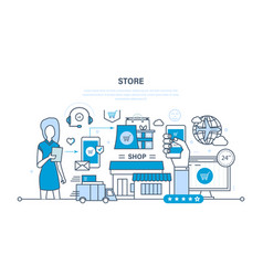 Store and online purchase delivery support vector