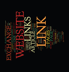 The art of link exchange text background word vector