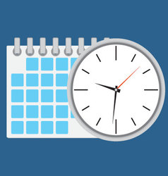 Time planning and management vector