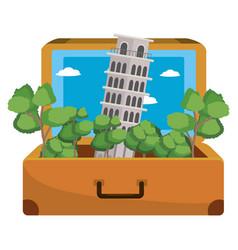 travel luggage cartoon vector image