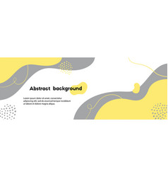 Trendy yellow gray abstract background minimal vector